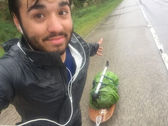 """This photo was in Wisconsin,"" James McGary writes. ""I had to ride 40 miles in the pouring rain, so I stayed positive and enjoyed it."""