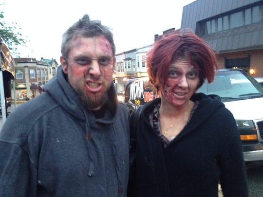 Jeremy W., left, and his undead bride