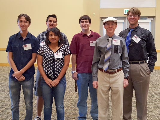 NMSU-A Students at a research conference at NMSU in Las Cruces.