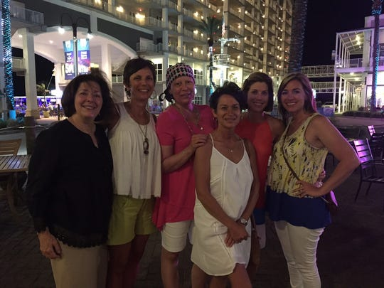 Angie Roberts poses with a group of her closest friends during a recent girls trip to Orange Beach this summer. (From left) Pat Texada, Elizabeth Cassano, Angie Roberts, Vickie Arnouville Melanie Drury and Jennifer Tichenor.
