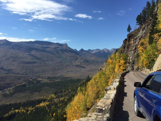 Going to the Sun Road is a challenge for drivers but offers amazing scenery.