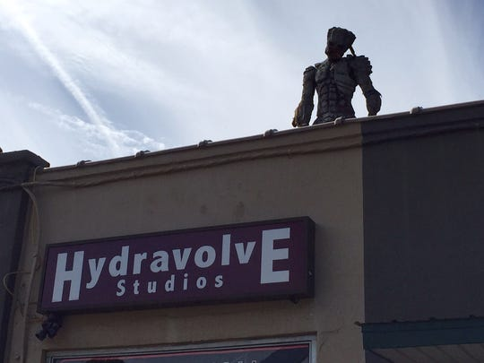 The Predator statue atop Hydravolve formerly was part