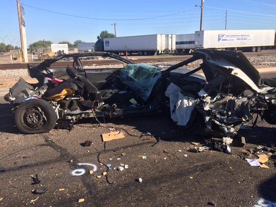 Two people were killed in a crash early Sunday morning near Avondale Boulevard and Maricopa 85.