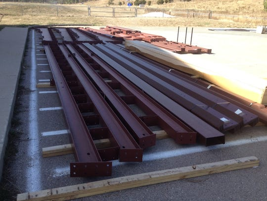 Steel building components for the new RHS weight room
