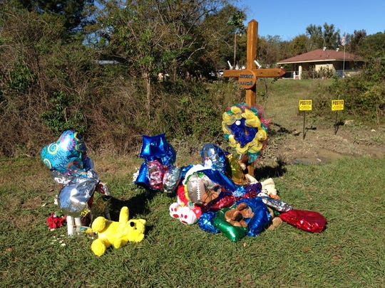 The memorial for 6-year-old Jeremy Mardis at the Marksville shooting site keeps expanding.