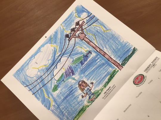 Burlington Electric selected 13 drawings from city fourth-graders for the 2016 Energy Efficiency Calendar.