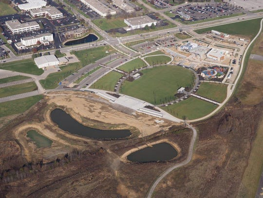 Aerial view of Summit Park property.