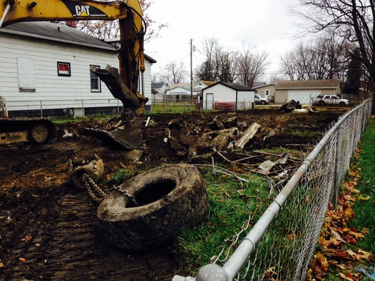 A house at 812 W. 11th St. in Muncie was demolished