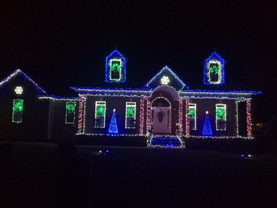 Matt Kruckenberg lights up his home in Rockvale Meadows
