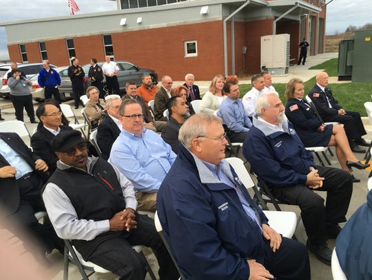 Local officials gathered for the public safety complex