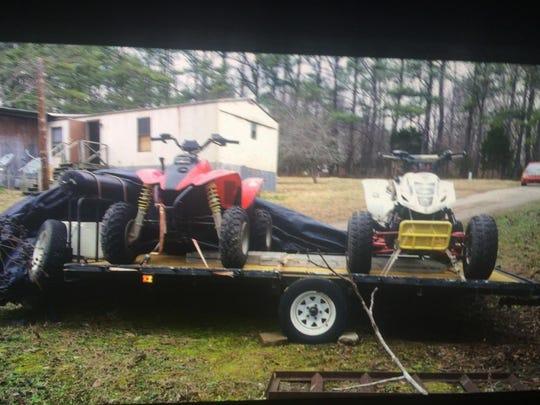 Stolen ATV being sought.