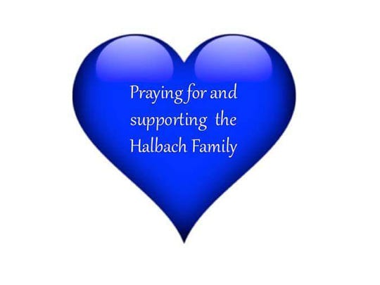 Praying for and supporting the Halbach Family