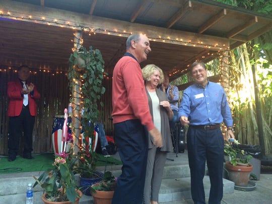 Benefactor Ernie Shaub, whose $50,000 donation keyed