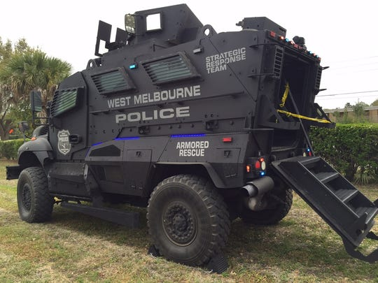 An armored rescue vehicle was among the West Melbourne Police Department assets on display at the WMPD's sixth annual Spring Fest on Saturday.