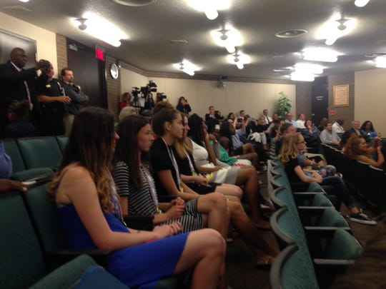 The state champion Fort Myers High girls' basketball team also was honored.