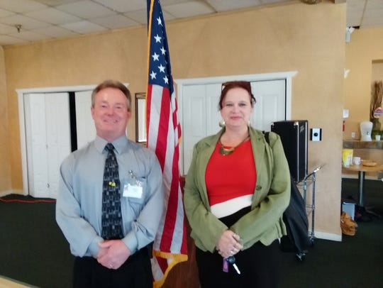 Tax Assessor candidates Walter Hill and Yvonne Lucero.