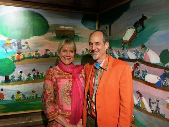 Conservators Jill Whitten and Robert Proctor, both