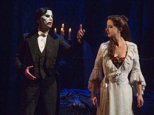 """A touring production of """"Phantom of the Opera"""" will be presented May 4-15 at Old National Centre."""