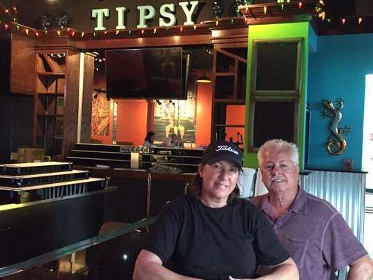 Trish Balentine and Roger Carlton opened Tipsy Taco last year.