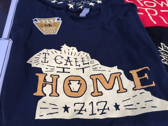 "York artist Zach Rupert designed this T-shirt with an image of York County and the words ""I Call It Home."""