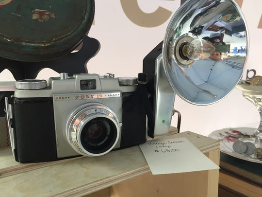 [Re]Chic turned this vintage camera into a functional lamp.