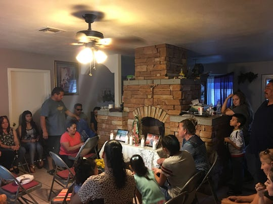 Loved ones gathered Wednesday evening to grieve and