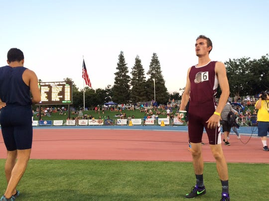 Rancho Mirage senior Logen Casavant took second-place in the boys' 400-meters in a personal best time of 46.93.
