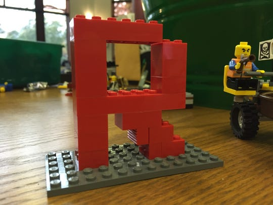 The LEGO player station is a new way of learning at the Rutgers Arts Library.