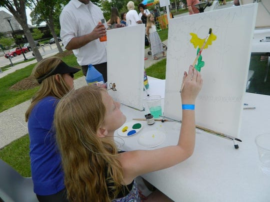 ParkArt in Shain Park in downtown Birmingham is a hands-on art event for children.
