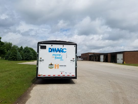 The DMARC mobile pantry is equipped with a refrigerator and a freezer to stock produce, as well as non-perishable items.