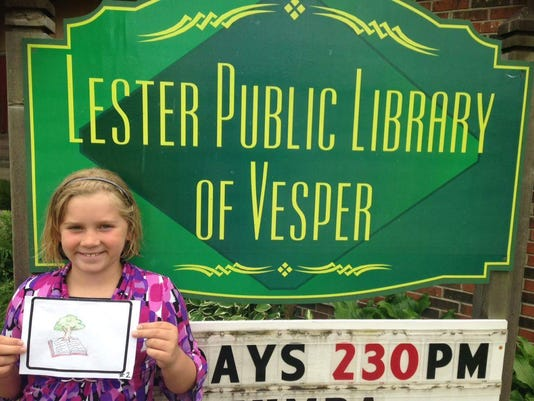 Lester Public Library of Vesper's new logo