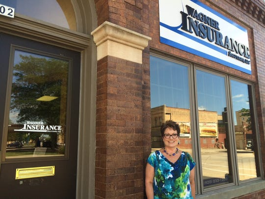Jodi Wagner, owner and agent of Wagner Insurance Solutions, 302 State St., installed a new sign and has ramped up business in Oshkosh since settling here in July 2015.