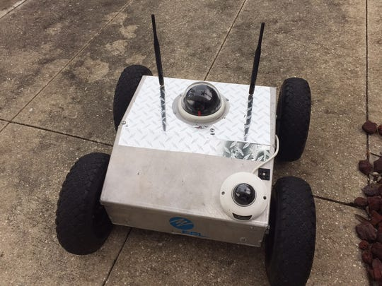 """The FPL substation robot is """"weather-proof."""""""