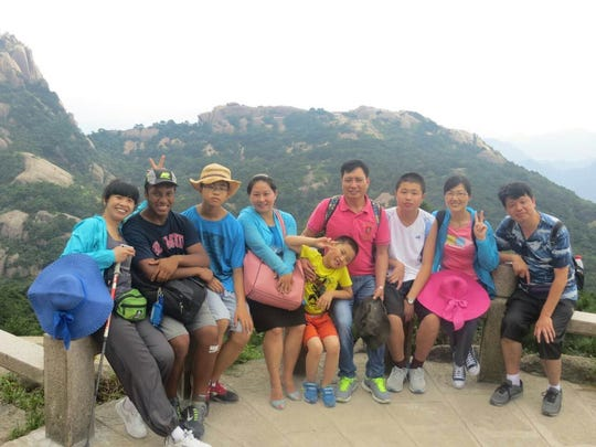 Winslow Township High School graduate Austin Yanez (second from left) is shown in China last year.  He received another State Department scholarship to return to China for the entire 2016-17 academic year to study the language and immerse himself in the culture.