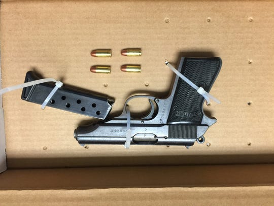 A semi-automatic pistol Salisbury Police say they recovered