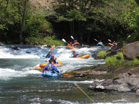 Whitewater rafting on the North Umpqua River.
