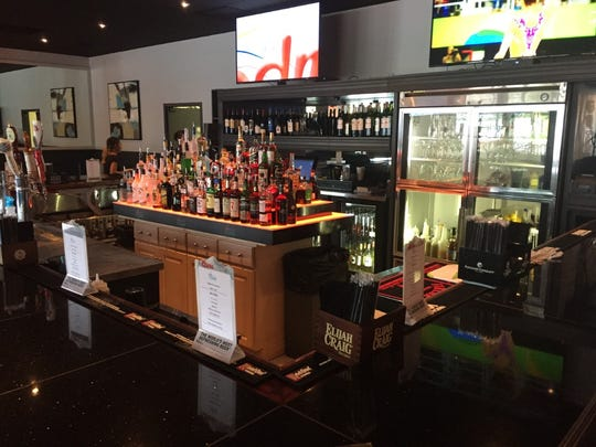 The bar at Twisted Flame.