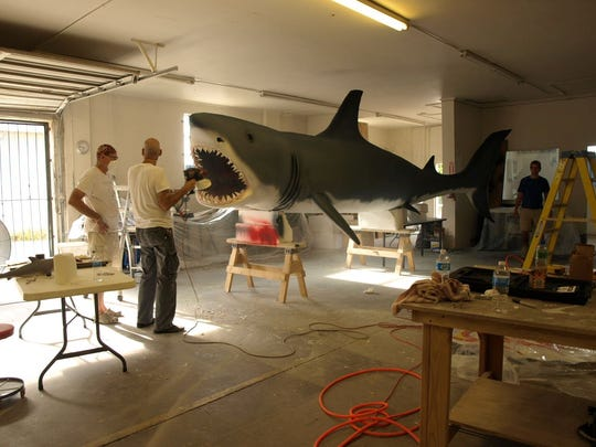Jim Hayes' 22-foot Great White Shark fabricated for Mega Church in  Dallas, Texas.