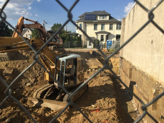 A foundation is underway for a planned restaurant and apartment building at 801 Haddon Avenue, Collingswood.