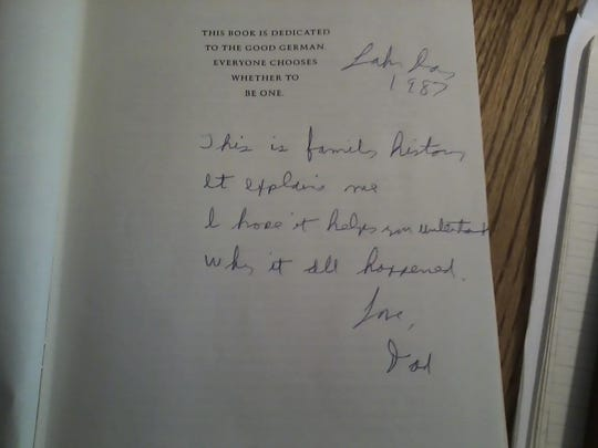 Inscription in The Turkey Shoot from Dr. John Edland