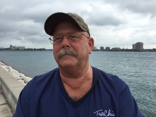 Ken Anderson, of Port Huron, remembers the Sept. 11, 2001 attacks. That's Canada in the background.