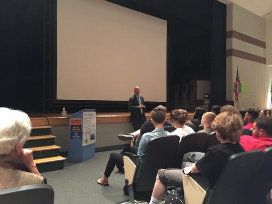 Gov. Jack Markell addresses seniors at Indian River