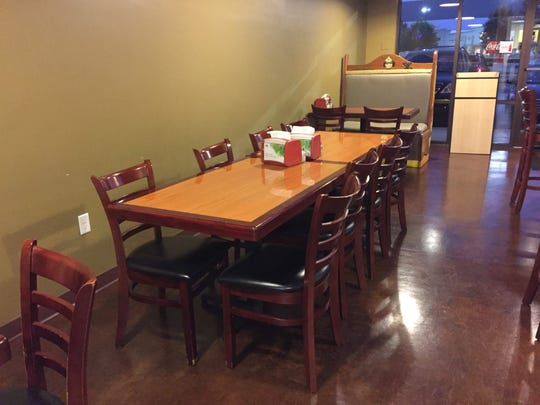 Inside El Taco, there is plenty of room for parties of all sizes.