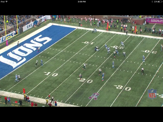In the end, Riddick had a clear path to the end zone.