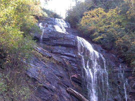 There are several waterfalls at Burrells Ford.
