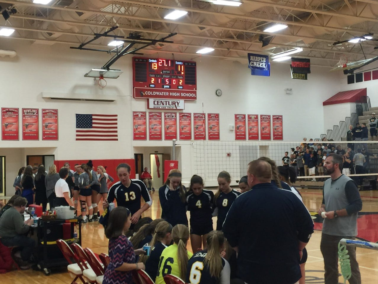 The DeWitt volleyball team fell in a five-set thriller Thursday night to Portage Central in the Class A regional title game.