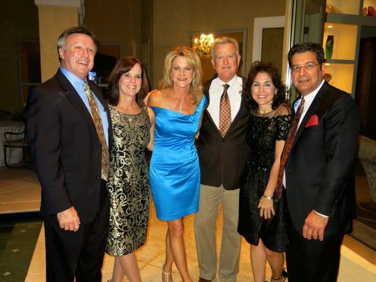 Michael and Sharon Delahoussaye, Melinda and Al Jones,