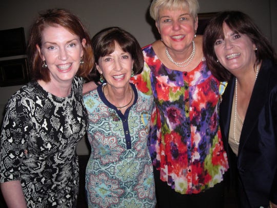Ellen Alley, Libby Siskron, Tracy Pressly and Maura Pugh at Wine & Cheese Party.