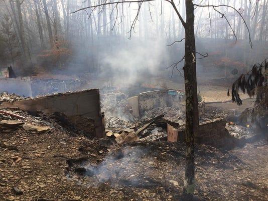 Gatlinburg fire Renfro home