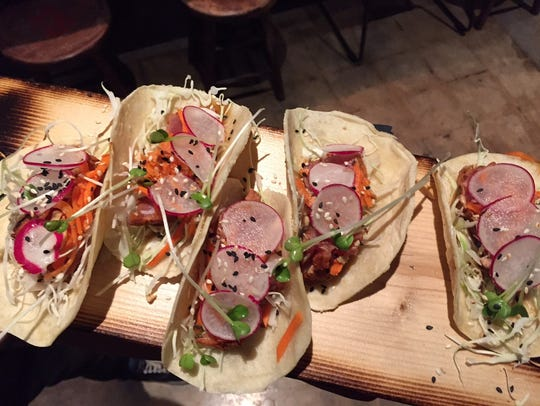 The tuna tacos at Willy Taco are delicious.